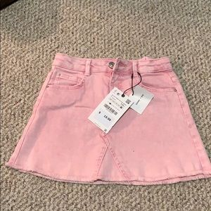 NWT Pink Size 7 Jean Skirt